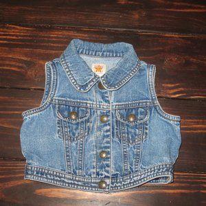 BabyGap Blue Jeans Vest Size 12-24 Months